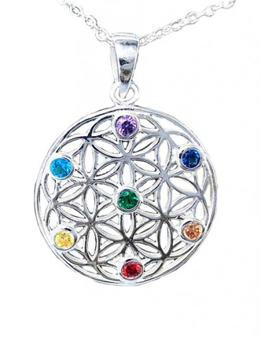 7 Chakra Necklace - Sterling Silver...