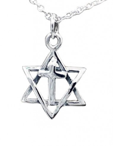Star of David and Cross Pendant Necklace