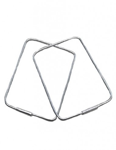 Sterling Silver Geometric Rectangle...