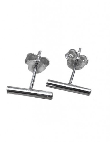 Sterling Silver Tiny Bar Studs Earrings