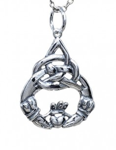 Claddagh Necklace, Silver...