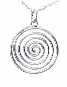 Spiral Pendant Necklace -...